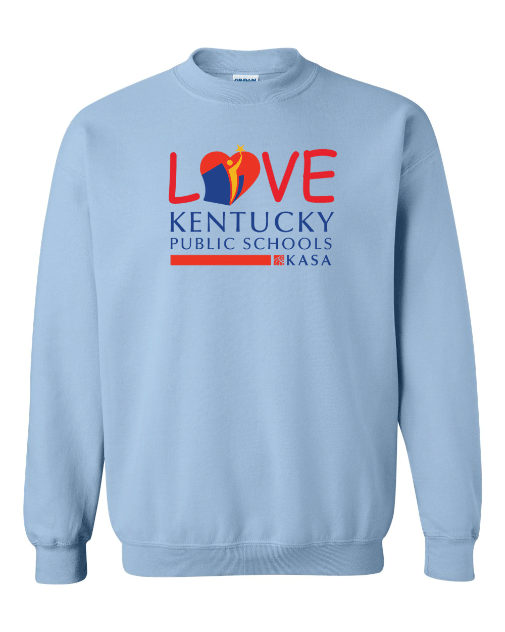 Love Kentucky Public Schools Sweatshirt - Light Blue