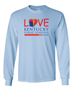 Love Kentucky Public Schools Long Sleeve Tee - Light Blue