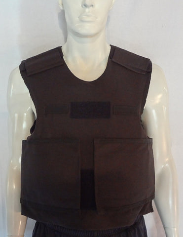 Kevlar Bullet Proof Vest - Premium Overt Black Cordura Cover - Level 2 - Stab Proof