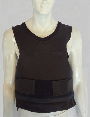 Kevlar Bullet Proof Vest - Standard Overt/Covert Black Cover - Level 2