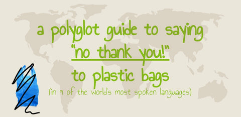 eco tourism no plastic bag please in 9 world languages