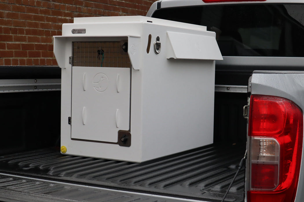 Dog Car Travel Crate for Pickups and Jeeps - DT 500 with All Weather Kit DT Box DT BOXES 500mm White