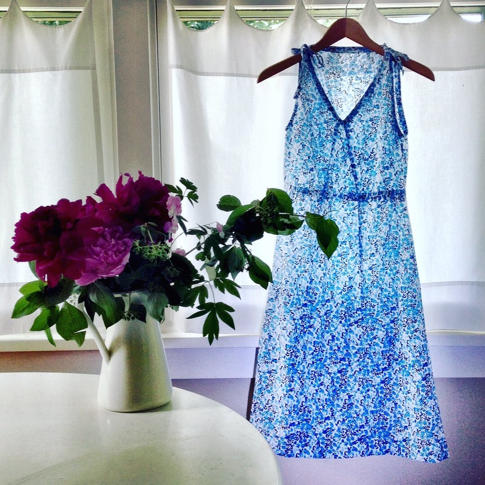 PATTERN REVIEW- SEW HOUSE 7, ROSE CITY HALTER DRESS, MAKING THE TOILE