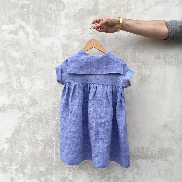 Merchant & Mills Skipper Dress, Blue Limerick Linen