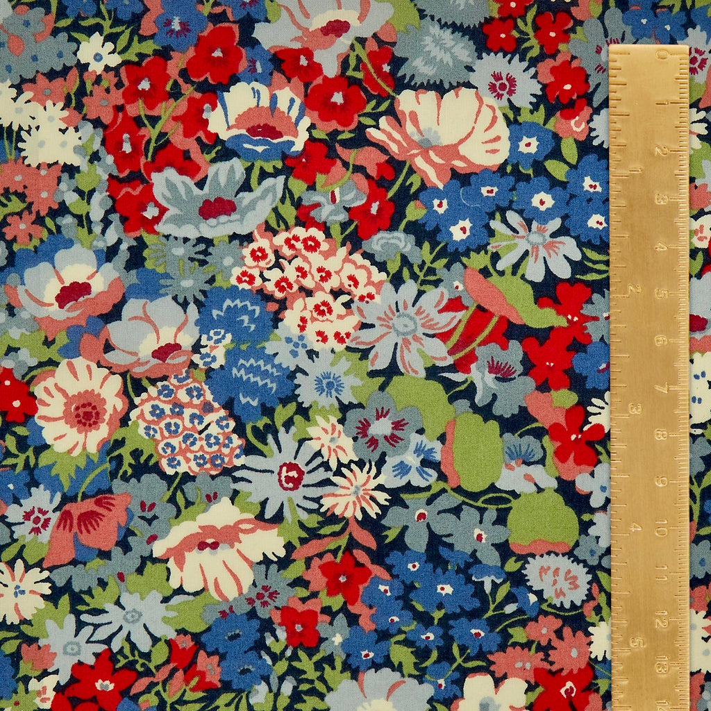 Liberty Tana Lawn Cotton Fabric, Thorpe K, 1/2 yard