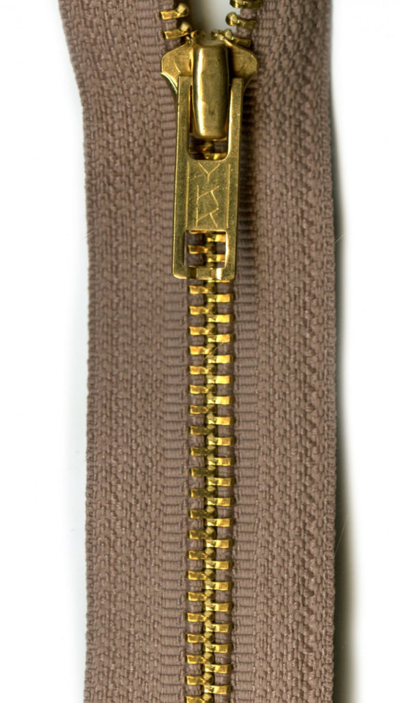 "YKK Brass 1-Way Separating Zipper 22"", navy, beige or black - Lakes Makerie - Minneapolis, MN"