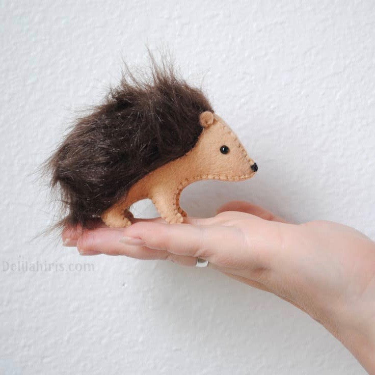 Felt Hedgehog  Kit-DelilahIris Designs - Lakes Makerie - Minneapolis, MN
