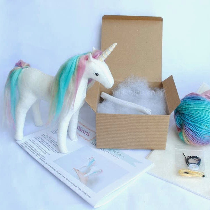 Felt Rainbow Unicorn Kit-DelilahIris Designs - Lakes Makerie - Minneapolis, MN