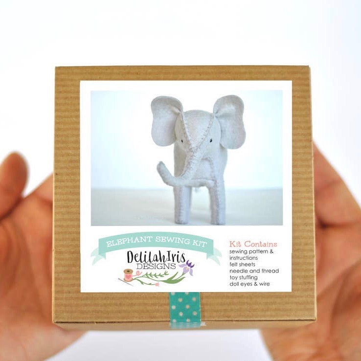Felt Blue Elephant Kit-DelilahIris Designs - Lakes Makerie - Minneapolis, MN