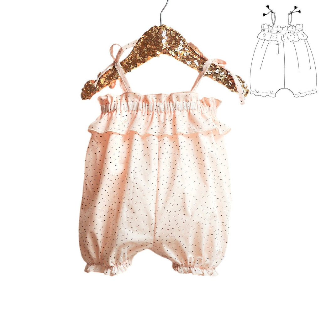 Ikatee (France), Volantis Tank Romper Sewing Pattern - Infant/Baby 1-24M