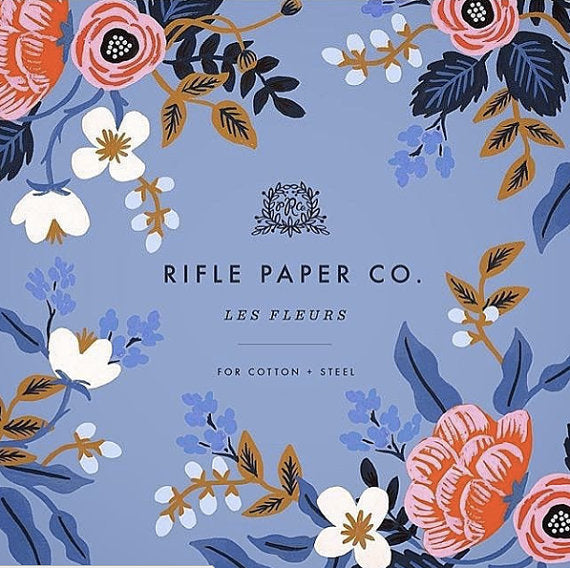 Rifle Paper Co., Les Fleurs,  City Toile  Metallic Cotton Lawn Fabric, 1/2 yard - Lakes Makerie - Minneapolis, MN