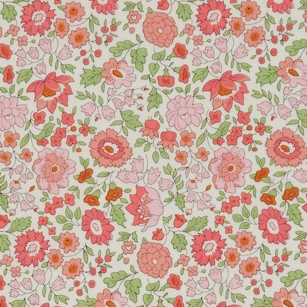 Liberty Tana Lawn Cotton Fabric, D'Anjo C, Pinks, 1/2 yard