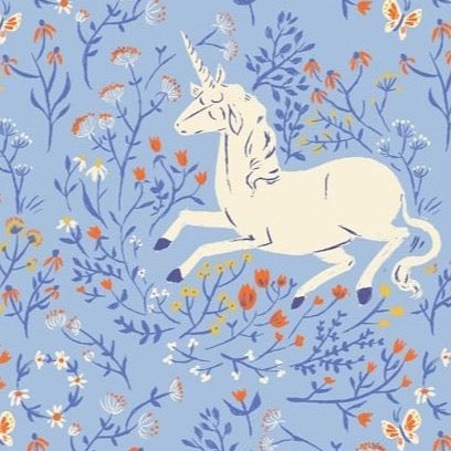 Windham 20th Anniversary, Blue Unicorn, 1/2 yard