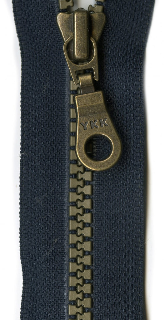 "YKK Brastique  Decorative 1-way separating Zipper 24"" - Lakes Makerie - Minneapolis, MN"
