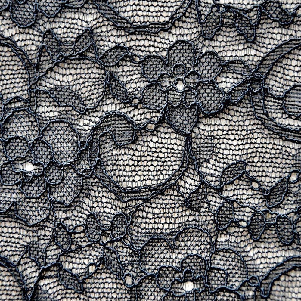 Black Floral Stretch Lace - Lakes Makerie - Minneapolis, MN
