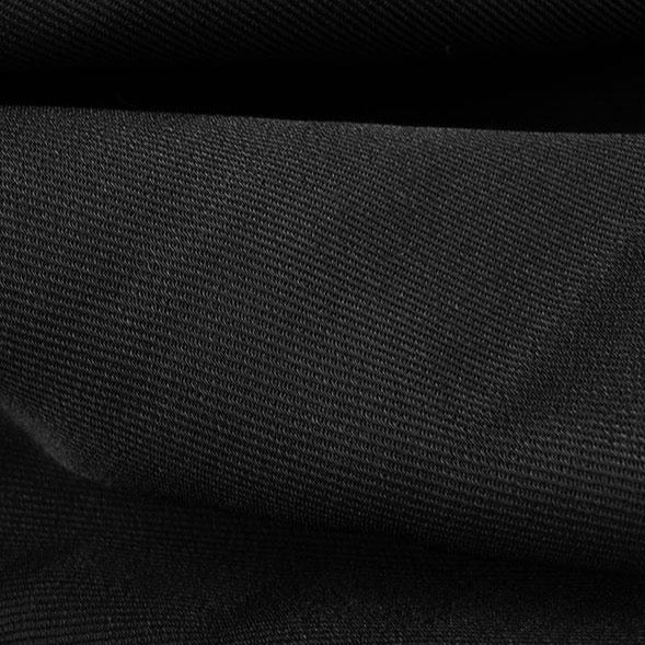 Rayon Twill Jacketing (designer deadstock), Deep Black, 1/2 yard