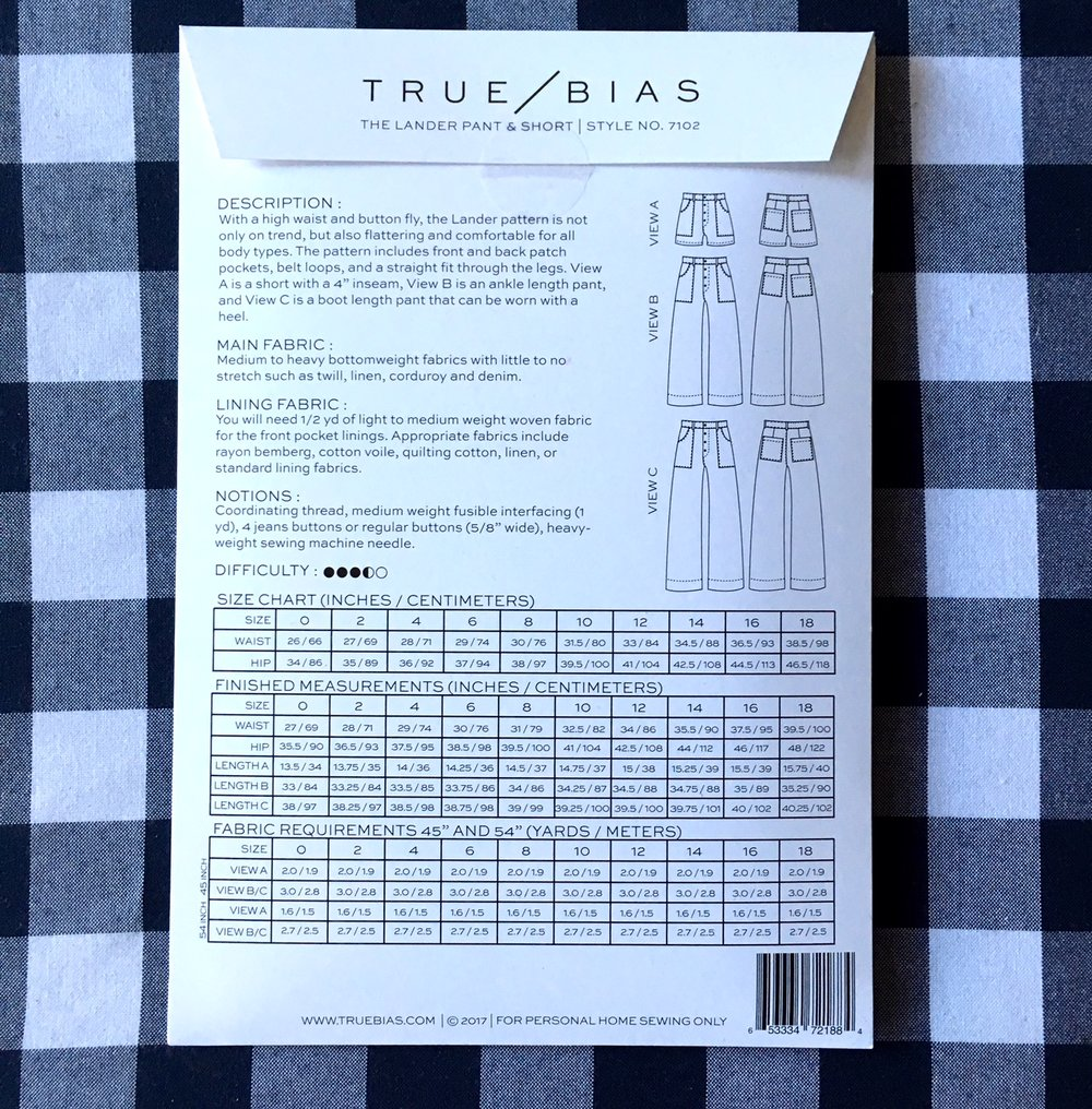 True Bias Lander Pant & Short - Lakes Makerie - Minneapolis, MN