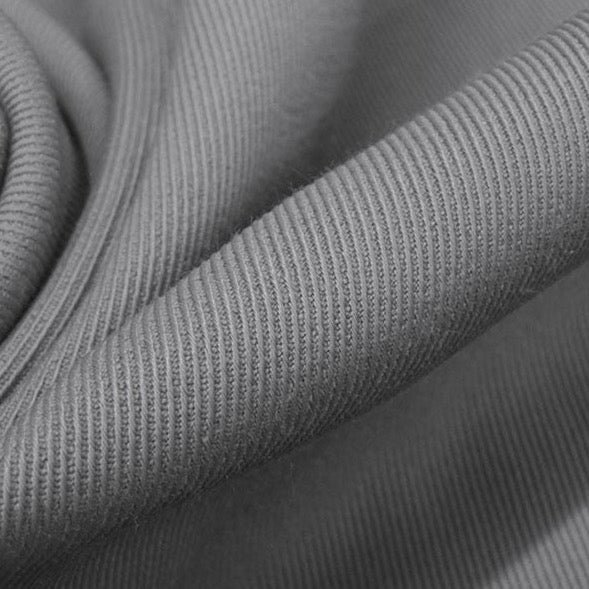 Rayon Twill Jacketing (designer deadstock), Steel Grey, 1/2 yard