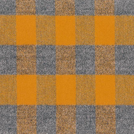 Mammoth Flannel Check -Gold and Grey, 1/2 yard - Lakes Makerie - Minneapolis, MN