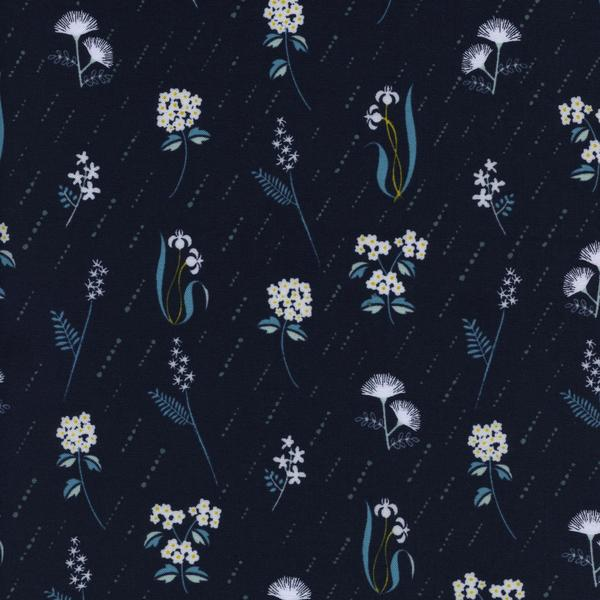 Raindrop In Bloom- Night Cotton Fabric, 1/2 yard - Lakes Makerie - Minneapolis, MN