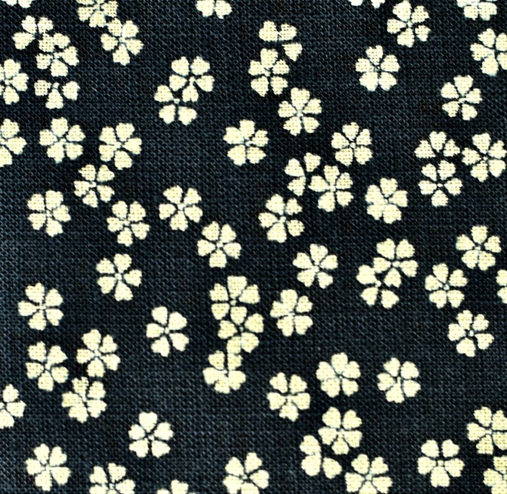 Sevenberry Nara Homespun Cotton Fabric, Cherry Blossoms on Indigo, 1/2 yard - Lakes Makerie - Minneapolis, MN