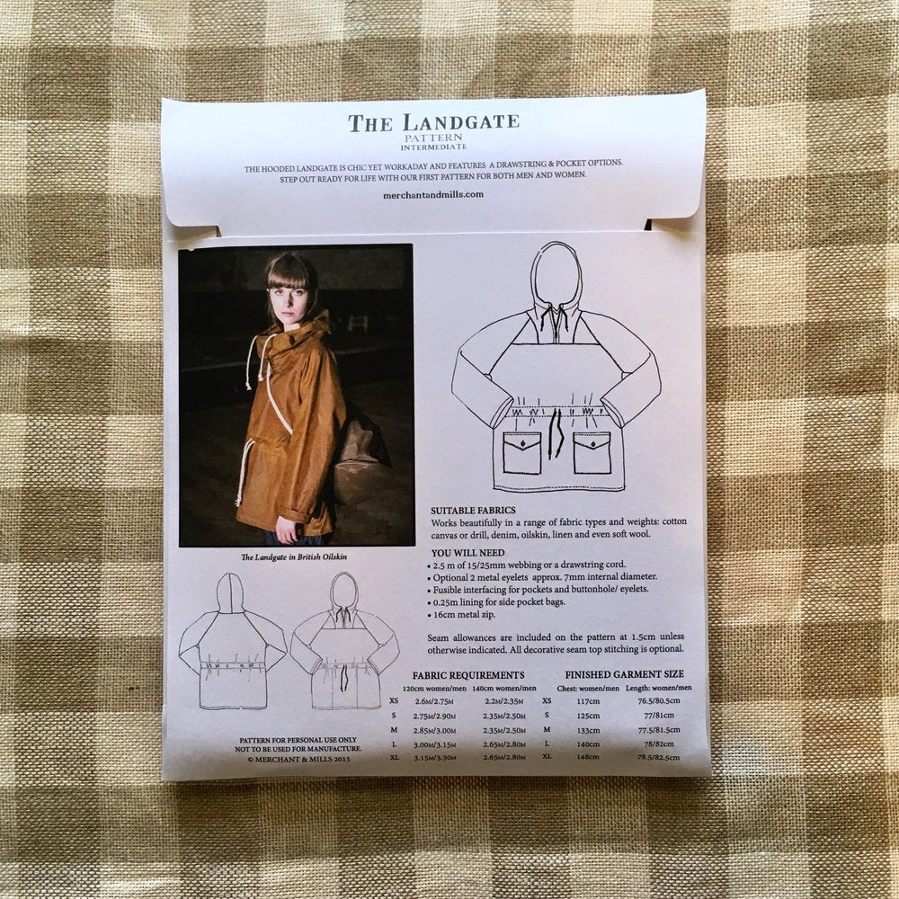 The Landgate Jacket Pattern, Merchant & Mills - Lakes Makerie - Minneapolis, MN