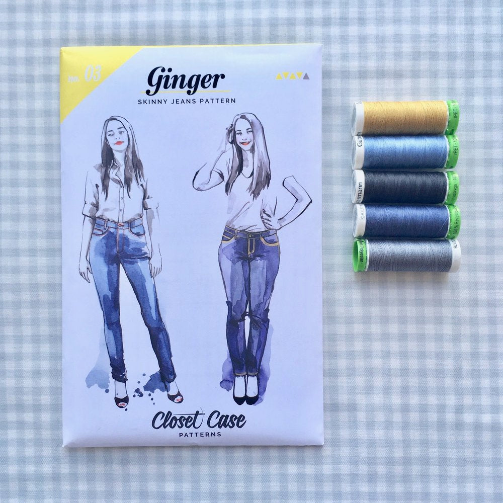 Closet Case Patterns, Ginger Skinny Jeans Pattern - Lakes Makerie - Minneapolis, MN