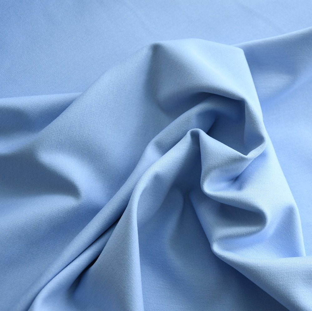 Ponte Knit, Medium Light Blue-Italy, 1/2 yard - Lakes Makerie - Minneapolis, MN