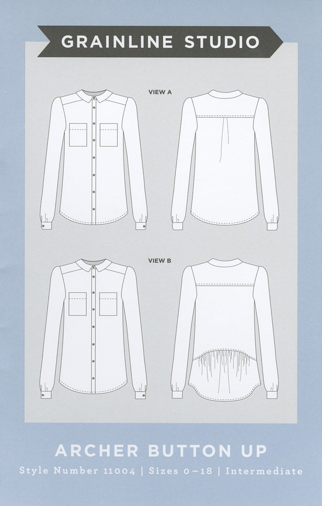 Archer Button Up Shirt Pattern, Grainline Studio - Lakes Makerie - Minneapolis, MN