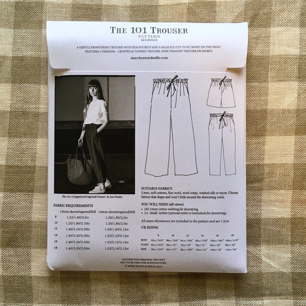 The 101 Trouser Pattern - Lakes Makerie - Minneapolis, MN