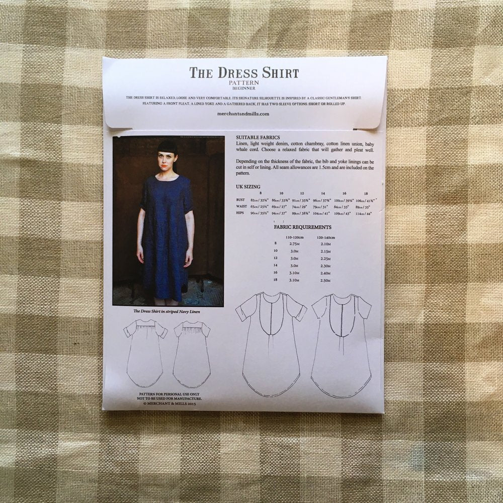 The Dress Shirt Dress Pattern - Lakes Makerie - Minneapolis, MN