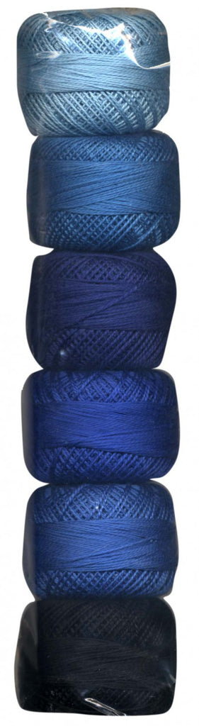 Perle Cotton Sampler, Size 8, Blue Gradient - Lakes Makerie - Minneapolis, MN