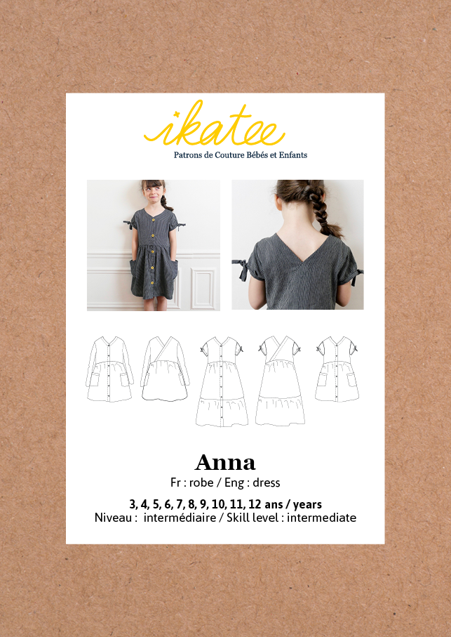 Ikatee (France), Anna Dress Sewing Pattern - Girl, 3-12Y