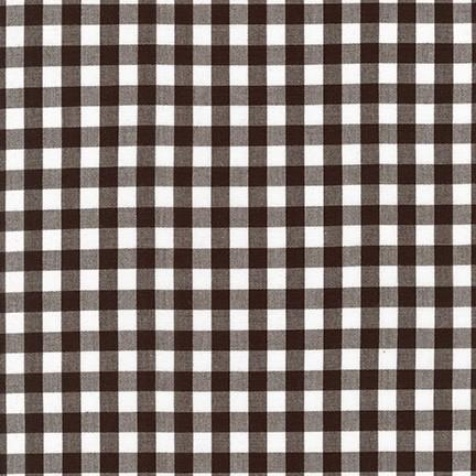 Carolina 1/4 inch Gingham cotton fabric,Black and white - Lakes Makerie - Minneapolis, MN