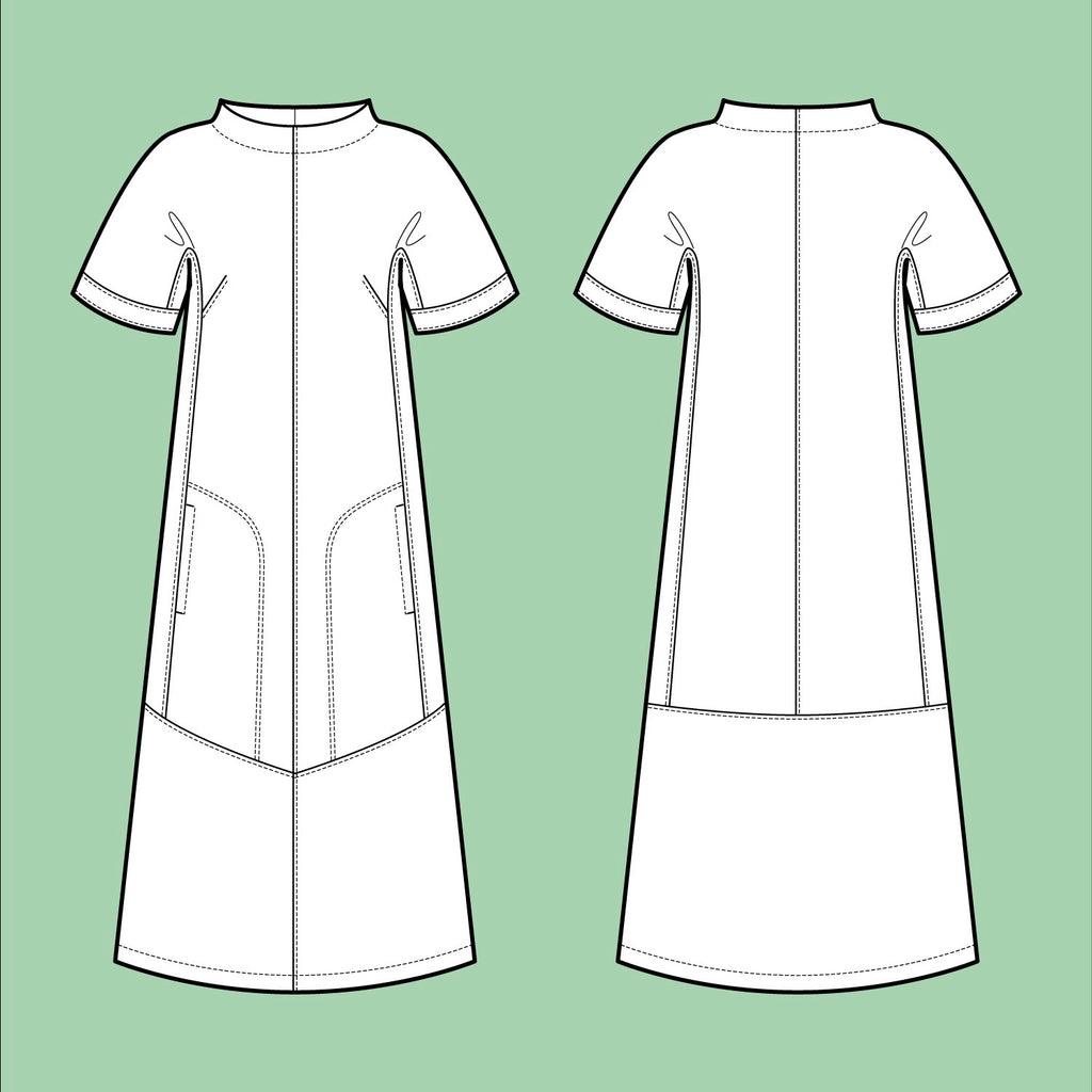 Assembly Line, Cap Sleeve Dress Pattern, Sweden