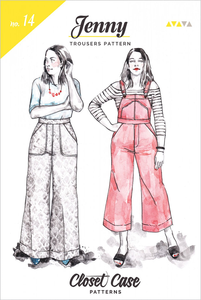 Closet Case Patterns, Jenny Overalls and Trousers Pattern - Lakes Makerie - Minneapolis, MN