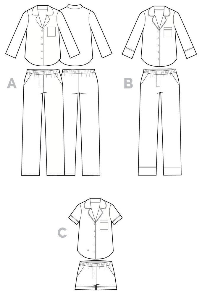 Closet Case Patterns, Carolyn Pajama Pattern - Lakes Makerie - Minneapolis, MN