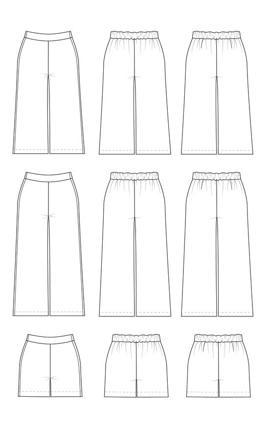 Cashmerette Calder Pants, Curvy Sewing Pattern