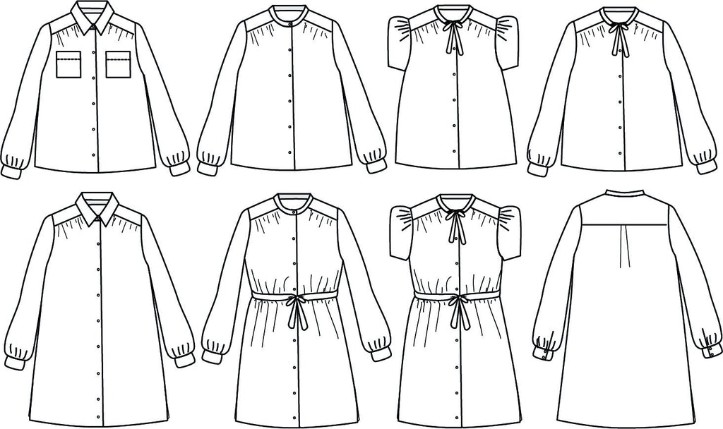 Ikatee (France), Alex Blouse or Dress Sewing Pattern - Girl, 3-12Y
