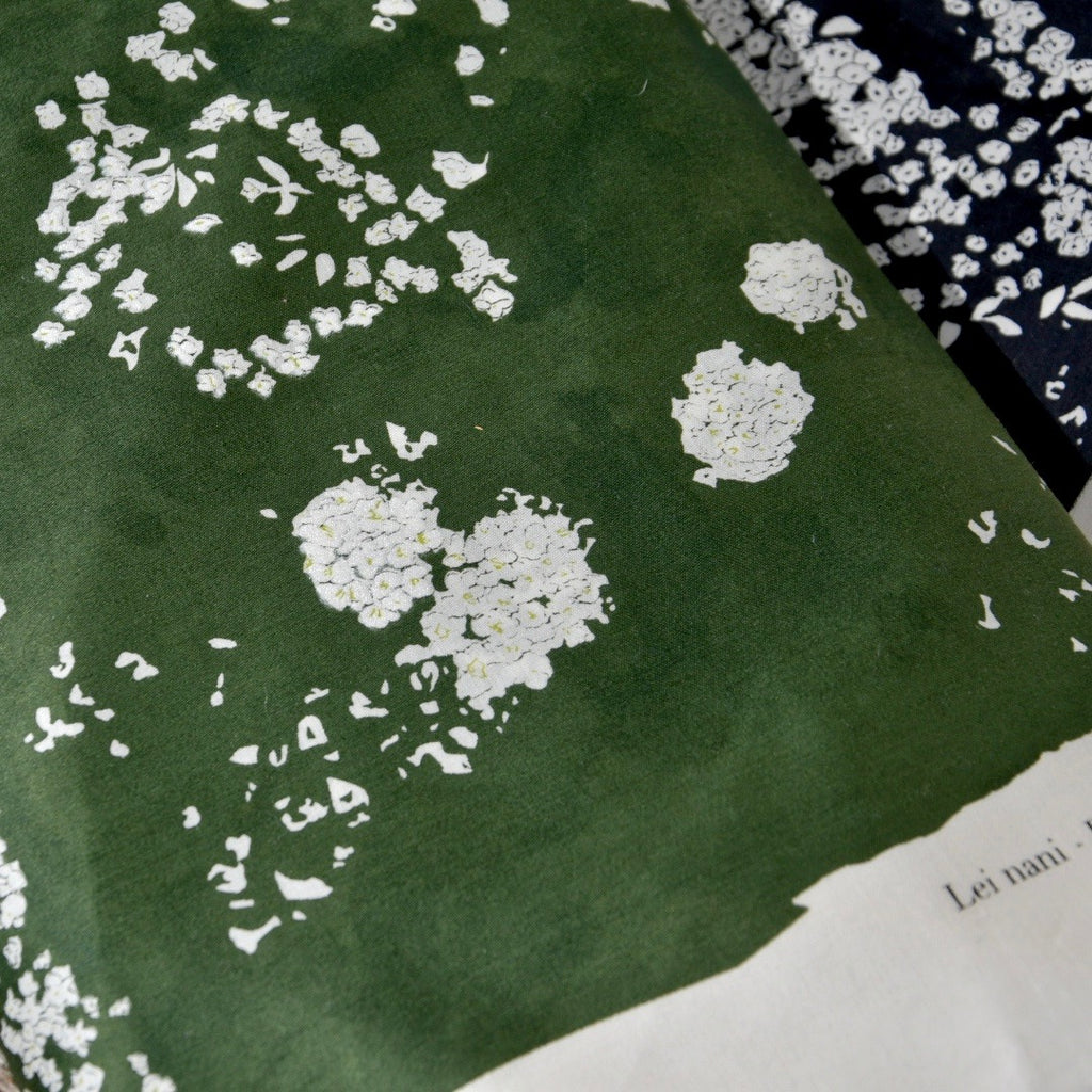 Nani Iro Cotton Sateen Fabric, Green - Lakes Makerie - Minneapolis, MN