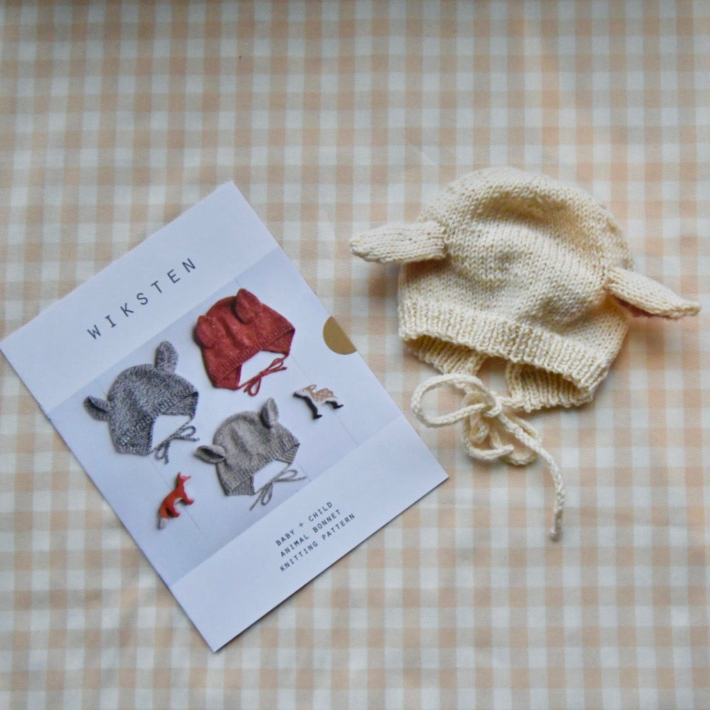Wiksten Baby + Child Animal Bonnet Knitting Pattern - Lakes Makerie - Minneapolis, MN