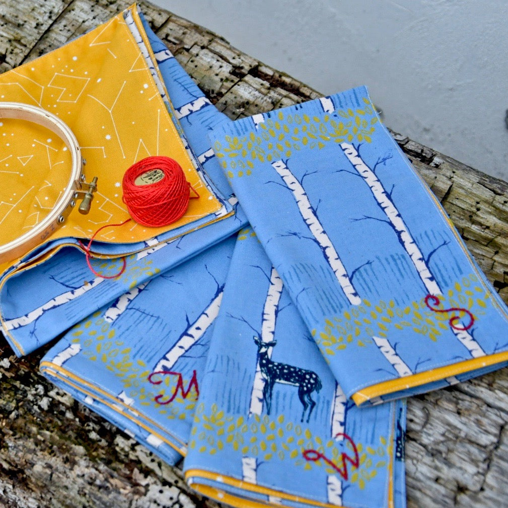 Simple Sewing: Reversible Monogrammed Napkins (Beginner Friendly)
