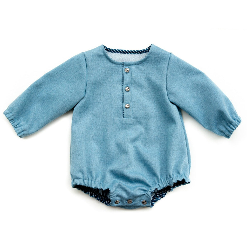 Ikatee (France), Sydney Romper Sewing Pattern - Infant/Baby/Child, 1M-4Y