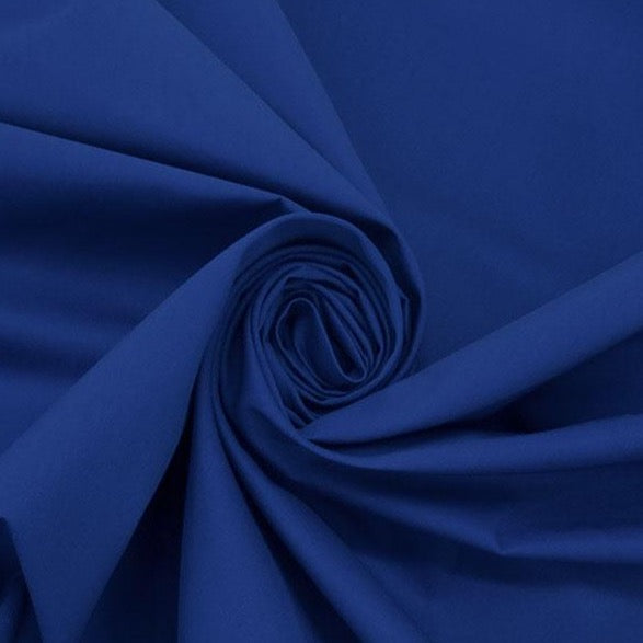 Almost Cobalt Cotton/Polyester Water Repellent Fine Twill Jacketing - Ralph Lauren, 1/2 yard