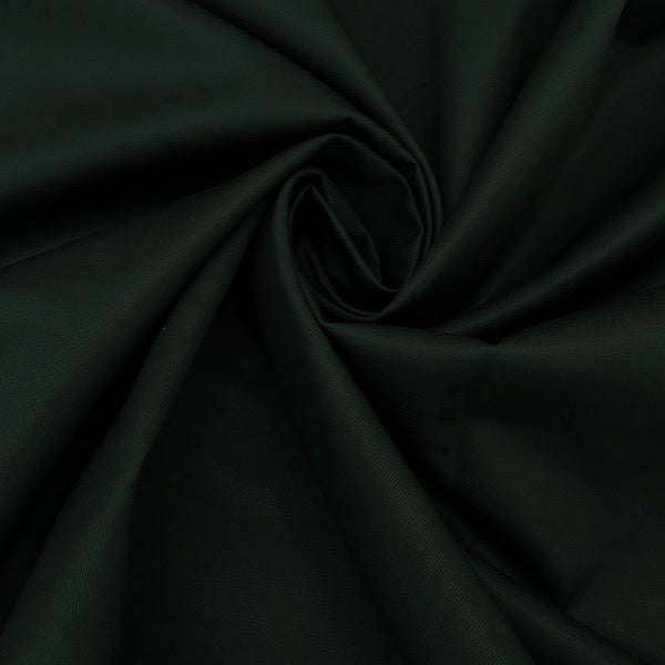 Designer Deadstock, Cotton Double Faced Raised Twill jacketing, Forest Green, 1/2 yard