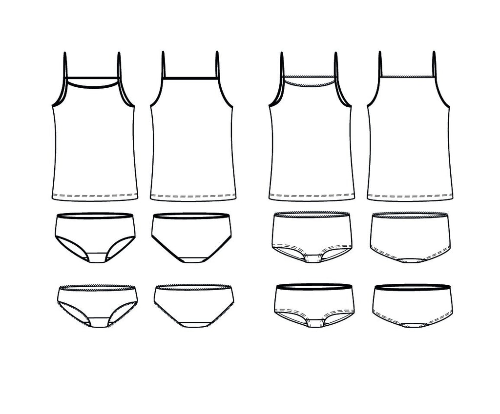 Ikatee (France), Belle Mum Underwear Set Sewing Pattern - Women