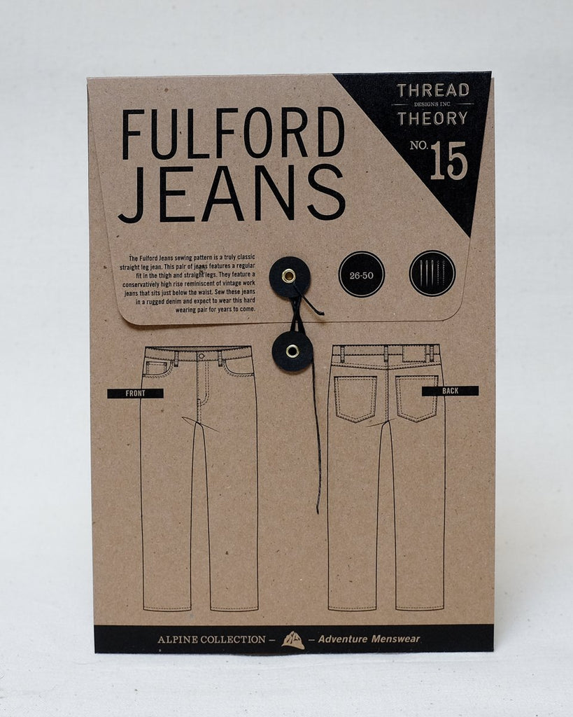 Thread Theory Men's Fulford Jeans Pattern - Lakes Makerie - Minneapolis, MN