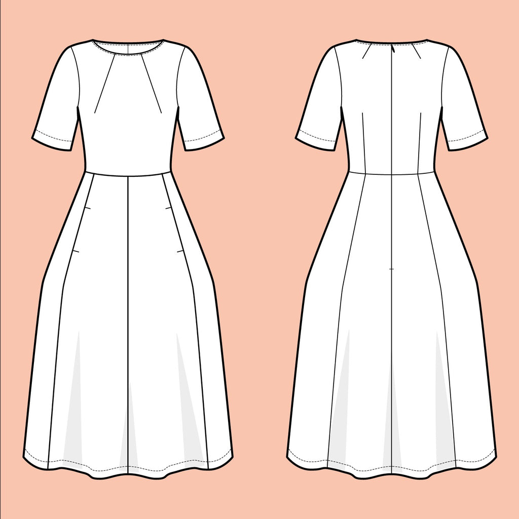 Assembly Line, Tulip Dress Pattern,  Sweden