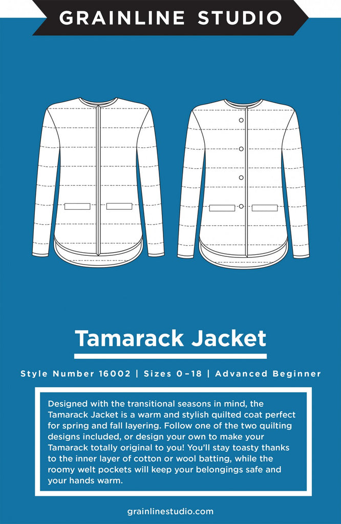 Grainline Studio, Tamarack Jacket Pattern - Lakes Makerie - Minneapolis, MN