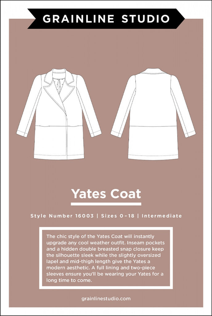 Yates Coat, Grainline Studio